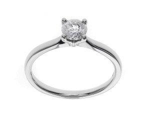 Classic Collection Platinum 0.50ct Solitaire Diamond Ring