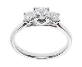 Classic Collection Platinum 0.50ct Diamond Trilogy Ring