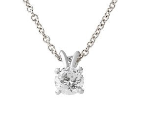 Classic Collection Platinum 1.00ct Diamond Solitaire Pendant