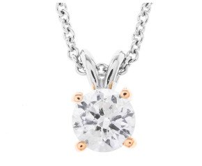 Classic Collection 18ct Gold 1.00ct Diamond Solitaire Pendant