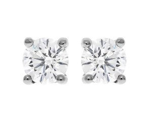 Classic Collection Platinum 1.00ct Solitaire Earrings