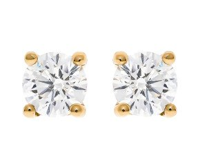 Classic Collection 18ct Gold 0.50ct Diamond Earrings