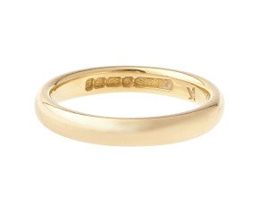 Vintage 1970's 22ct Gold Court 3.10mm Wedding Band