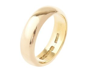 Antique 1848 22ct Gold D Shaped 5.80mm Wedding Band