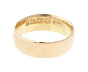 Antique 1900's 22ct Gold Court 6.00mm Wedding Band