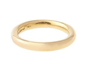 Antique 1850's 22ct Gold Court 3.10mm Wedding Band