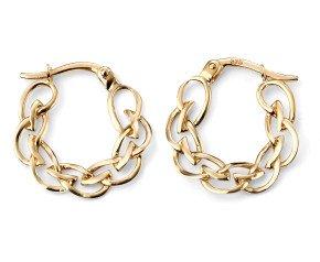 9ct Gold Celtic Hoop Earrings
