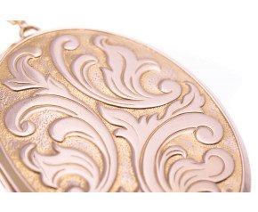 Vintage 9ct Gold large Oval Locket