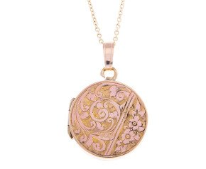 Vintage Fancy Round Front & Back Locket