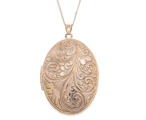 9ct Gold Large Oval Locket