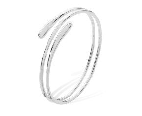 Sterling Silver Coil Drip Bangle