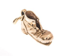 Vintage 9ct Gold Boot Charm