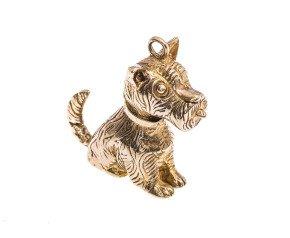 Vintage 9ct Gold Scottie Dog Charm