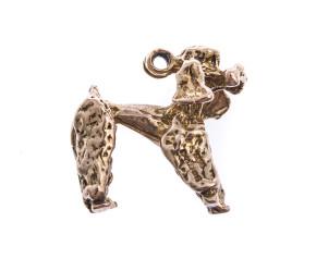 Vintage 9ct Gold Poodle Charm