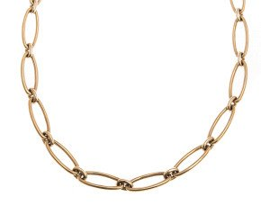 Pre-Owned 9ct Gold Fancy Link Necklace