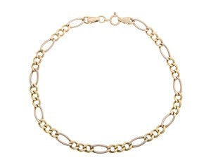 Pre-Owned 9ct Gold Figaro Bracelet