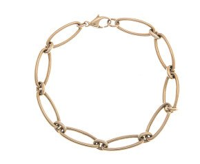 Pre-Owned 9ct Gold Oval Chain Link Bracelet