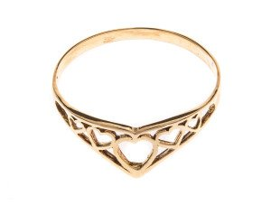 Pre-Owned Filigree Heart Dress Ring
