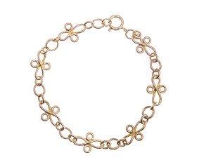 Vintage 9ct Gold Fancy Bracelet