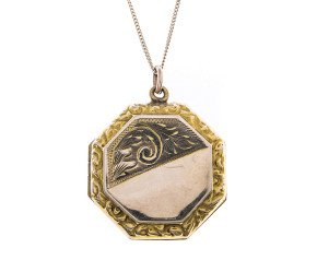 Antique Victorian Hexagonal Front & Back Locket