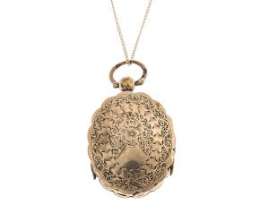Antique Victorian Scalloped Edge Front & Back Locket