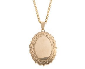 Vintage 9ct Gold Oval Locket