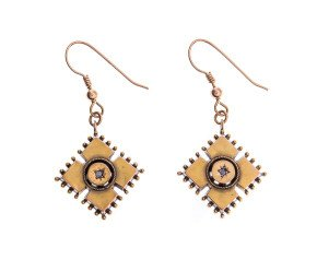 Antique Victorian 15ct Yellow Gold Drop Earrings