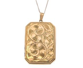 Vintage 1970's 9ct Yellow Gold Locket