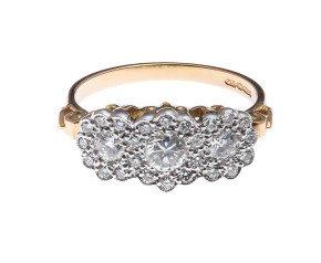 18ct White Gold 0.84ct Diamond Dress Ring