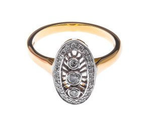 18ct Gold 0.28ct Diamond Dress Ring