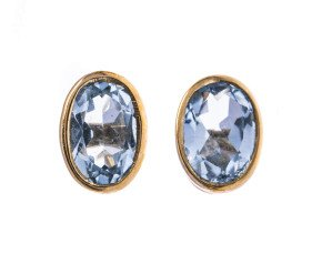9ct Gold 0.80ct Aquamarine Solitaire Stud Earrings