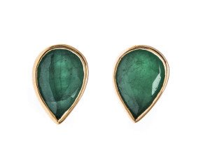 1.30ct Emerald Solitaire Stud Earrings