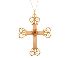 Antique Late Victorian 18ct Yellow Gold Cross Pendant