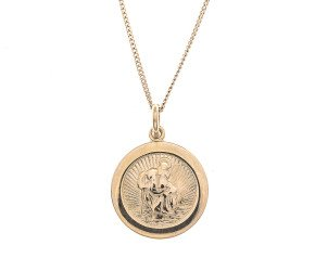 A 9ct Yellow Gold St Christopher Pendant