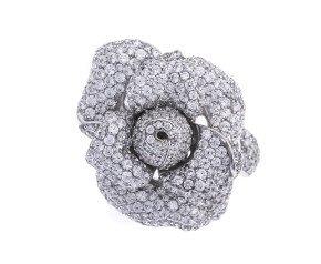 Sterling Silver & Rhodium Vermeil Cubic Zirconia Dress Ring