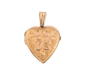 Vintage 1970's 9ct Yellow Gold Heart Locket