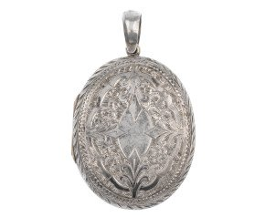 Antique Silver Oval Locket