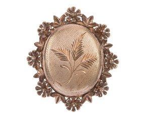 Vintage Silver 1960's Locket Brooch