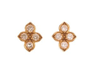Pre-owned 0.58ct Diamond Cartier Cluster Earrings