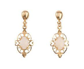 Pre-owned Opal Drop Earrings