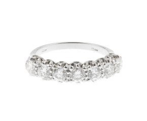 18ct White Gold 1.11ct Diamond Half Eternity Ring