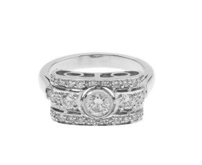 18ct White Gold 0.72 Diamond Cluster Ring
