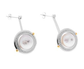 Sterling Silver Edison Pearl Orbital Earrings