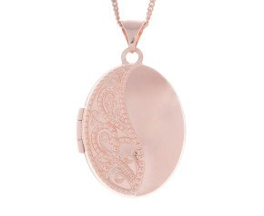 9ct Rose Gold Oval Locket