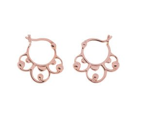 9ct Rose Gold Baroque Creole Earrings