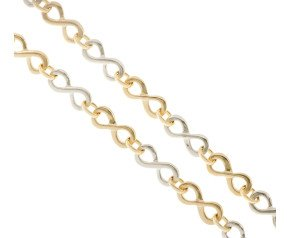 9ct Yellow & White Gold Infinity Necklace
