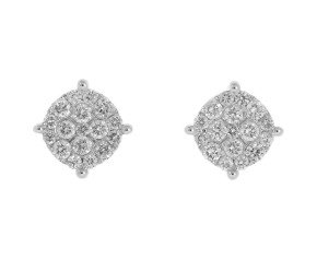 18ct White Gold 1ct Diamond Stud Earrings