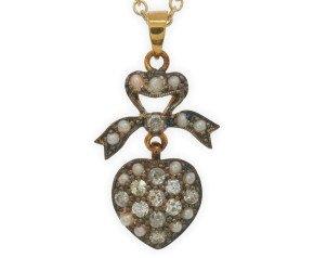Diamond & Seed Pearl Pendant