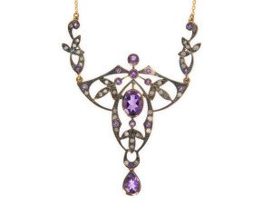 Amethyst & Diamond Necklet