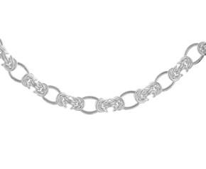 7.6mm Silver Fancy Oval Link Bracelet